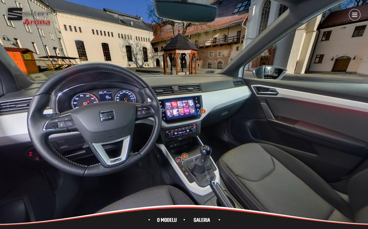 Zaawansowana, sferyczna, interaktywna prezentacja samochodu